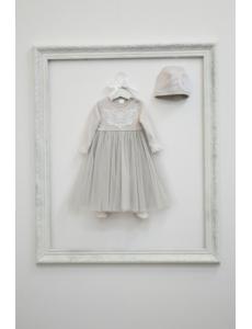 """КН60/3-И Комплект для новорожденных """"Королева Анна"""" цвет жемчуг"""