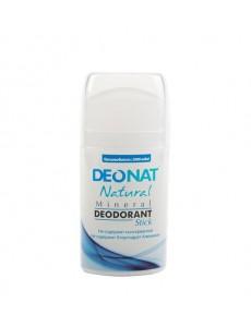 """Дезодорант — Кристалл """"ДеоНат"""" чистый, стик овальный, выдвигающийся  (push — up), 100 гр."""