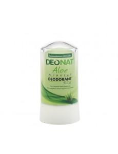 "Дезодорант — Кристалл ""ДеоНат""с соком АЛОЭ, стик, 60 гр. зеленый"