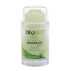 """Дезодорант — Кристалл """"ДеоНат""""с натуральным  соком АЛОЭ, стик, 80 гр. зеленый"""