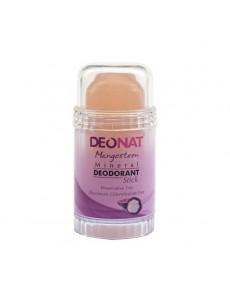 """Дезодорант — Кристалл """"ДеоНат"""" с соком МАНГОСТИНА, стик, вывинчивающийся, 80 гр. розовый"""