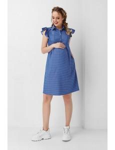 1850 1009, Платье синее в горошек