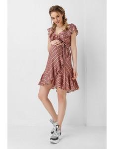 1953 1103, Платье коричневое на запах