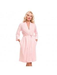 2180 Халат женский розовый меланж
