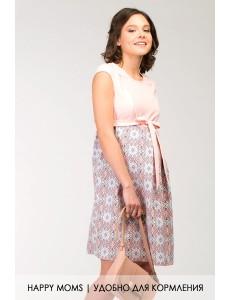 Платье трапеция для будущих мам арт. 99397