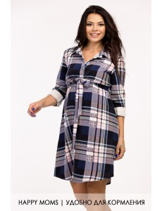 Платье рубашка для беременных арт. 99399