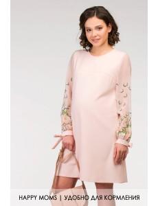 Оригинальное платье для беременных и кормящихарт. 99391