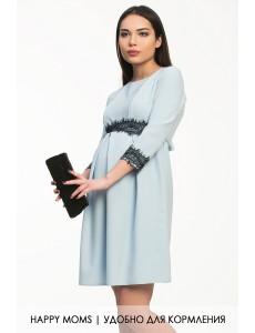 Голубое платье для беременных и кормящихарт. 99376