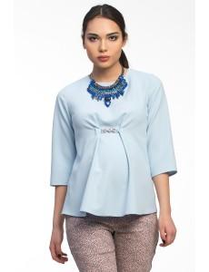 Блузка голубая для беременных арт. 11352