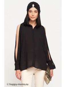 Блузка черная для беременных арт. 11163