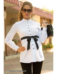 Рубашка для беременных белая арт. 11241