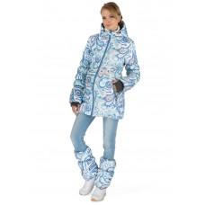 """Куртка 2в1 зимн. """"Мальта"""" голубой узор для беременных"""