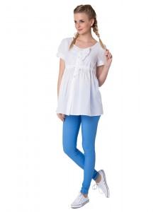 """Блуза """"Яна"""" белая для беременных и кормящих"""