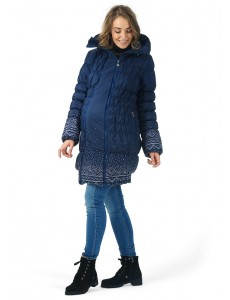 """Куртка 3в1 зимн. """"Исландия"""" вязаные узоры для беременных и слингоношения"""