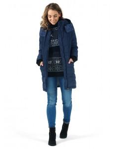 """Куртка 3в1 зимн. """"Мадейра"""" синяя для беременных и слингоношения"""