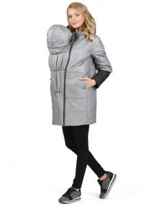 """Куртка демис. 3в1 """"Авиньон"""" для беременных и слингоношения серый меланж"""