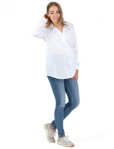 """Рубашка """"Бэйсик"""" для беременных белый"""