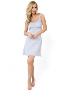 """Ночная сорочка """"Ливия"""" для беременных и кормящих с. меланж"""