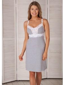 Ночная сорочка Melissa для кормящих меланж 4223