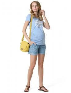 "Футболка ""Алабама"" для беременных голубой меланж"