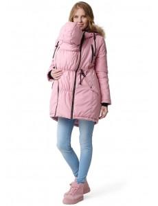 """Парка зимн. 3в1 """"Ньюкасл"""" для беременных и слингоношения приглушенный розовый"""