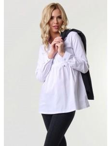 """Блузка """"Салли"""" для беременных и кормящих; цвет: белый"""