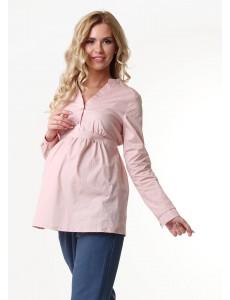"""Блузка """"Салли"""" для беременных и кормящих; цвет: пудровый"""
