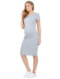 """Платье """"Одри"""" для беременных серый меланж"""