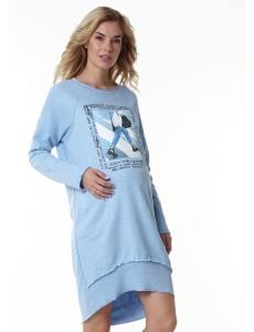 """Платье """"Селма"""" для беременных; цвет: небесно-голубой"""