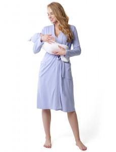 """Комплект для роддома """"Ника"""" для беременных и кормящих серый меланж/звездо"""