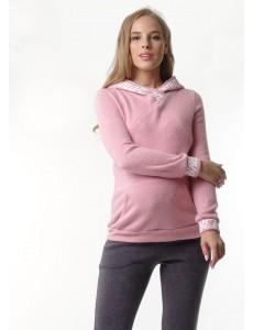 """Костюм """"Вивиан"""" для беременных и кормящих; цвет: пудровый/серый"""