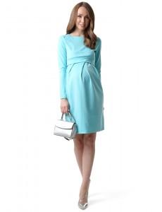 """Платье """"Европа"""" для беременных и кормящих; цвет: тиффани"""