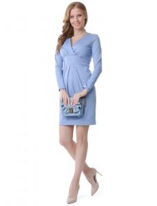 """Платье """"Жасмин"""" для беременных и кормящих; цвет: голубой меланж"""