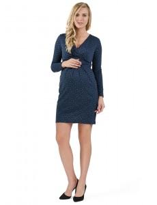 """Платье """"Жасмин"""" для беременных и кормящих т.синий"""