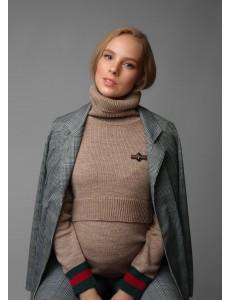 """Джемпер """"Саманта"""" для беременных и кормящих; цвет: бежевый"""