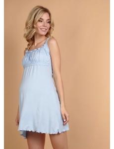 """Ночная сорочка """"Ливия"""" для беременных и кормящих; цвет: св.голубой"""