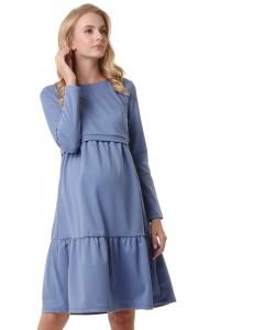 """Платье """"Фиалка"""" для беременных и кормящих; цвет: денимный"""