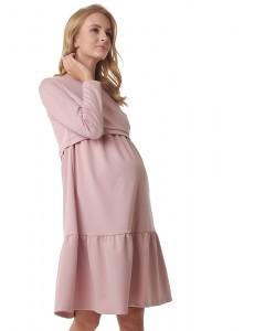 """Платье """"Фиалка"""" для беременных и кормящих; цвет: т.пудровый"""