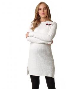 """Платье """"Элоиза"""" для беременных и кормящих; цвет: молочный/люрекс"""