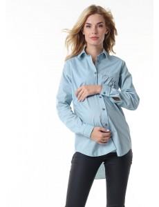 """Рубашка """"Лесли"""" для беременных и кормящих; цвет: можжевеловый"""