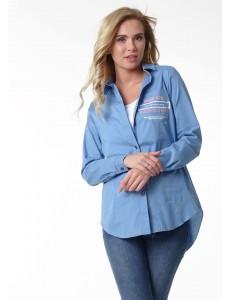 """Рубашка """"Лесли"""" для беременных и кормящих; цвет: синий"""