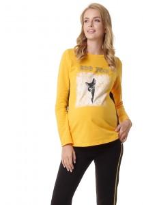 """Толстовка """"Лиана"""" для беременных и кормящих; цвет: желтый"""
