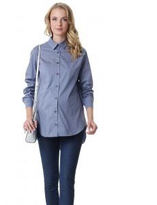 """Рубашка """"Миллениум"""" для беременных и кормящих; цвет: серый"""