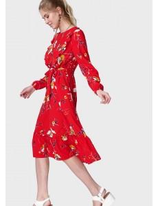"""Платье """"Мариана"""" для беременных и кормящих; цвет: красный/цветы"""
