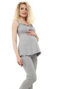 """Комплект для дома """"Лана"""" для беременных и кормящих; цвет: серый меланж"""