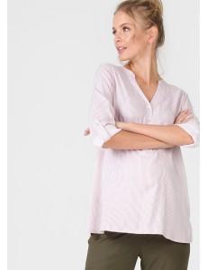 """Блузка """"Девика"""" для беременных и кормящих; цвет: пудра/белая полоска"""