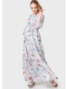 """Платье """"Мадлена"""" для беременных и кормящих серый"""