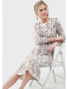 """Платье """"Мариана"""" для беременных и кормящих; цвет: белый/стрекозы"""
