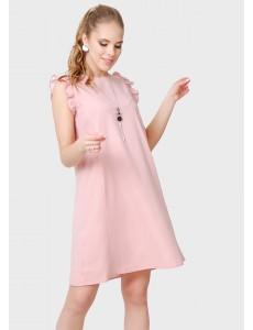 """Платье """"Морлей"""" для беременных и кормящих; цвет: пудровый"""