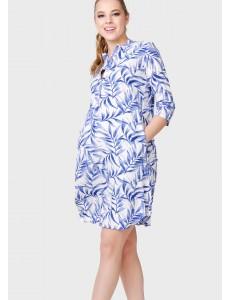 """Платье """"Ника"""" для беременных; цвет: голубые листья"""